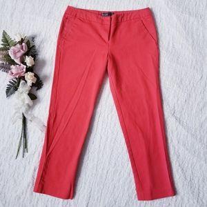 Donna Ricco Crop Solid Dress Stretch Pants